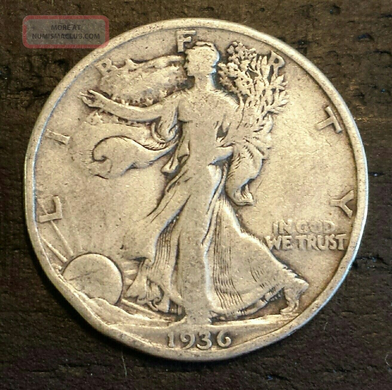1936 50c Walking Liberty Half Dollar Liberty Walking (1916-47) photo