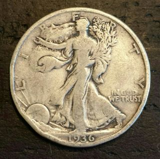 1936 50c Walking Liberty Half Dollar photo