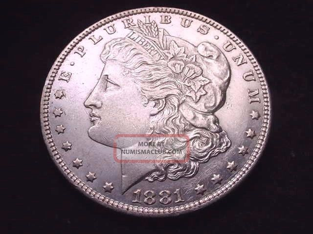 1881 - 0 Morgan Dollar Great Bu Silver Dollar - - - 2 Dollars photo