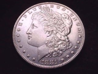 1881 - 0 Morgan Dollar Great Bu Silver Dollar - - - 2 photo