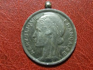 Art Nouveau Marianne Conseiller Municipal Silver Rare Medal By Morlon photo