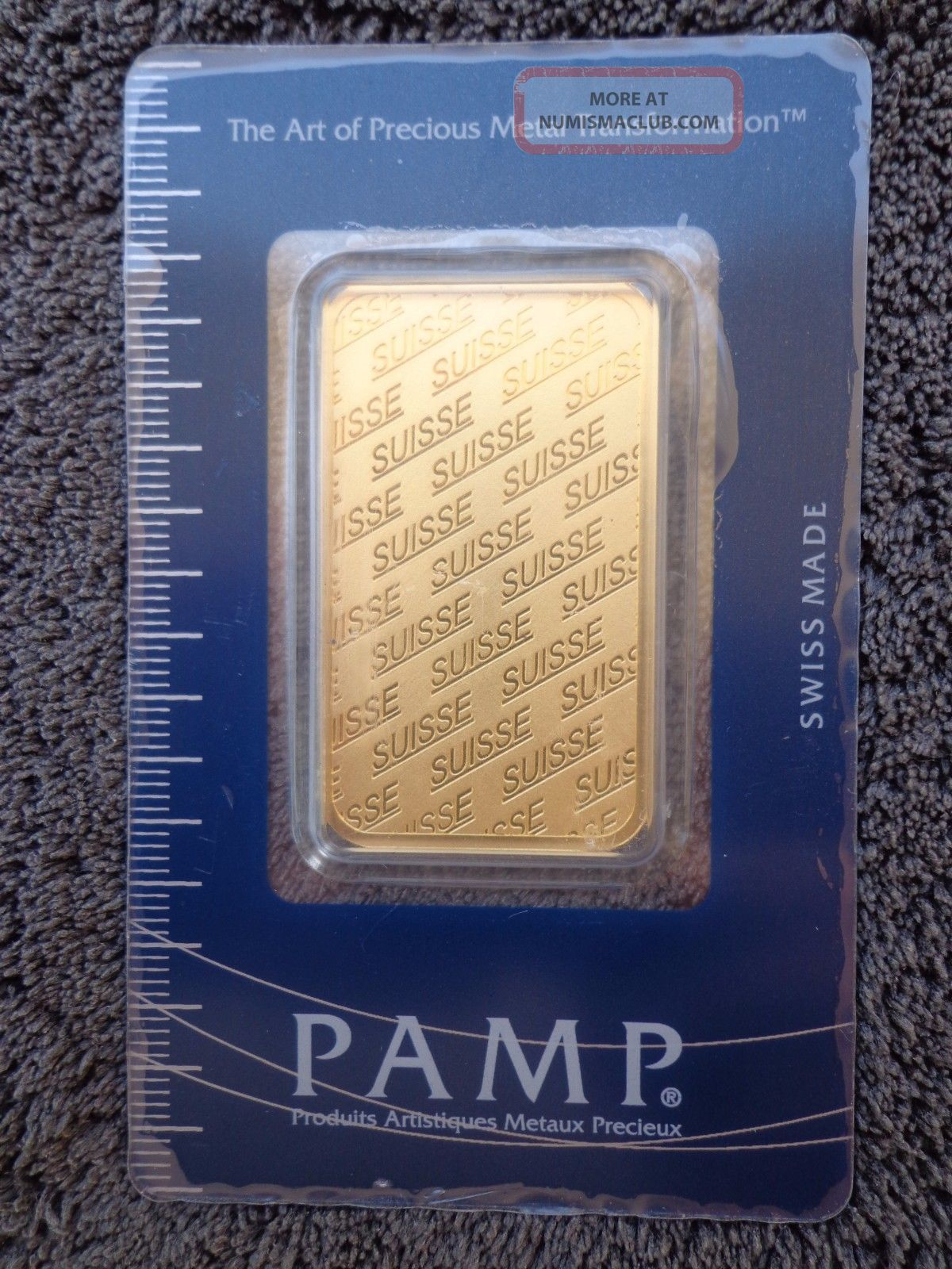 1 Oz Pamp Suisse Gold Bar.  9999 Fine Gold With Assay Cert Gold photo