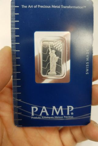 5 Gram Pamp Suisse Platinum Bar.  9995 Fine Fortuna In Assay photo