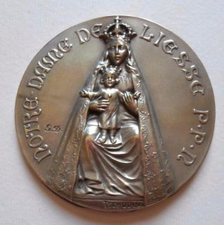 Notre Dame De Liesse French Religious Catholic Medal By Tschudin photo