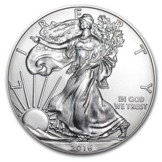 2016 American Eagle 1 Oz.  999 Fine Silver One Dollar Coin (uncirculated) Bu photo