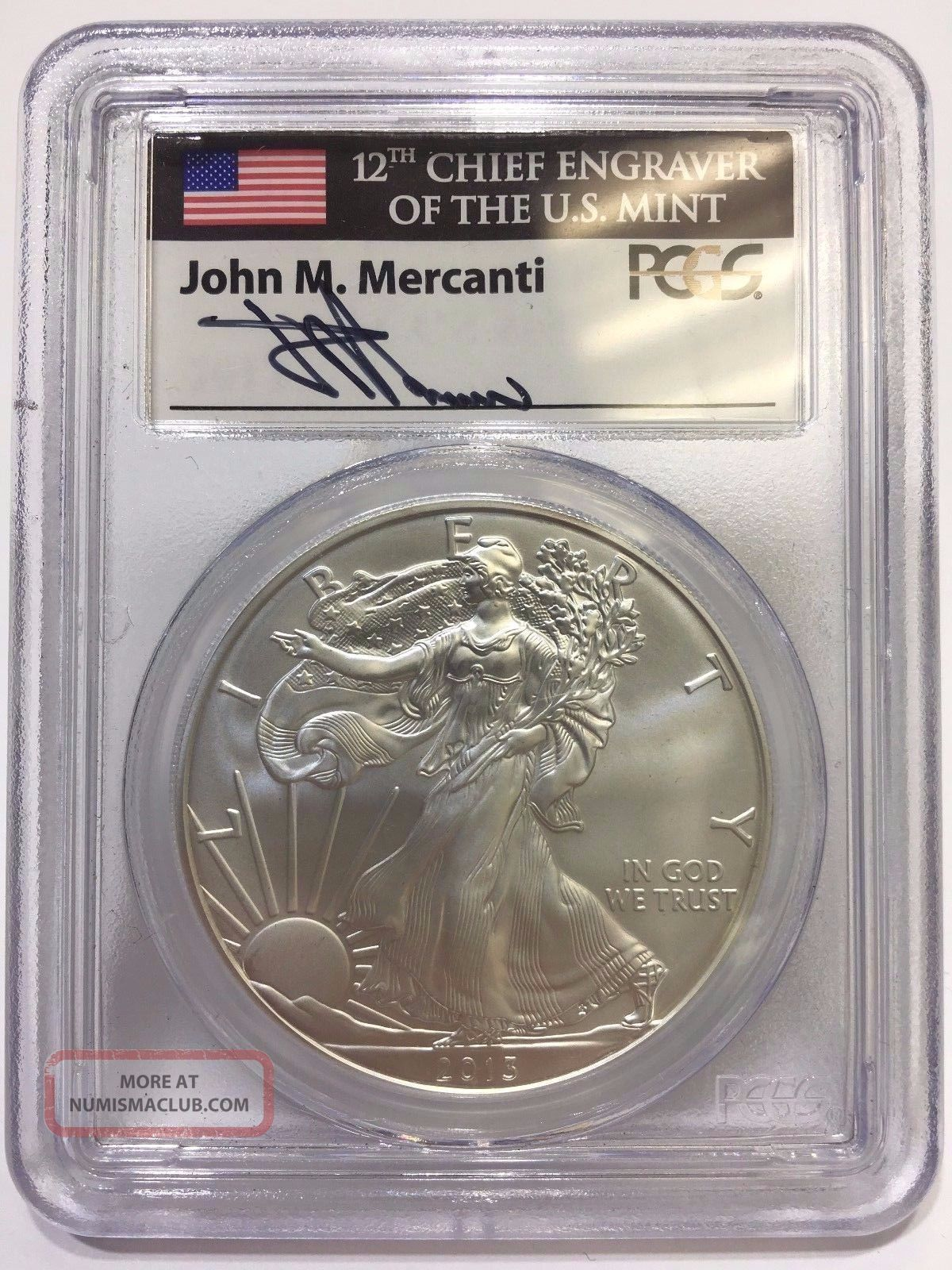 2013 Pcgs John M Mercanti Signed Ms 70 First Strike