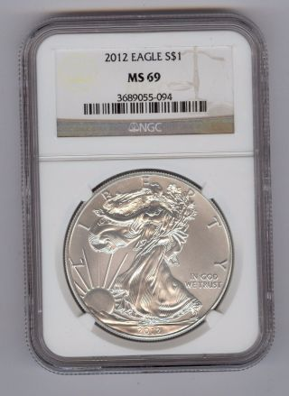 2012 American Silver Eagle Ngc Ms69 photo