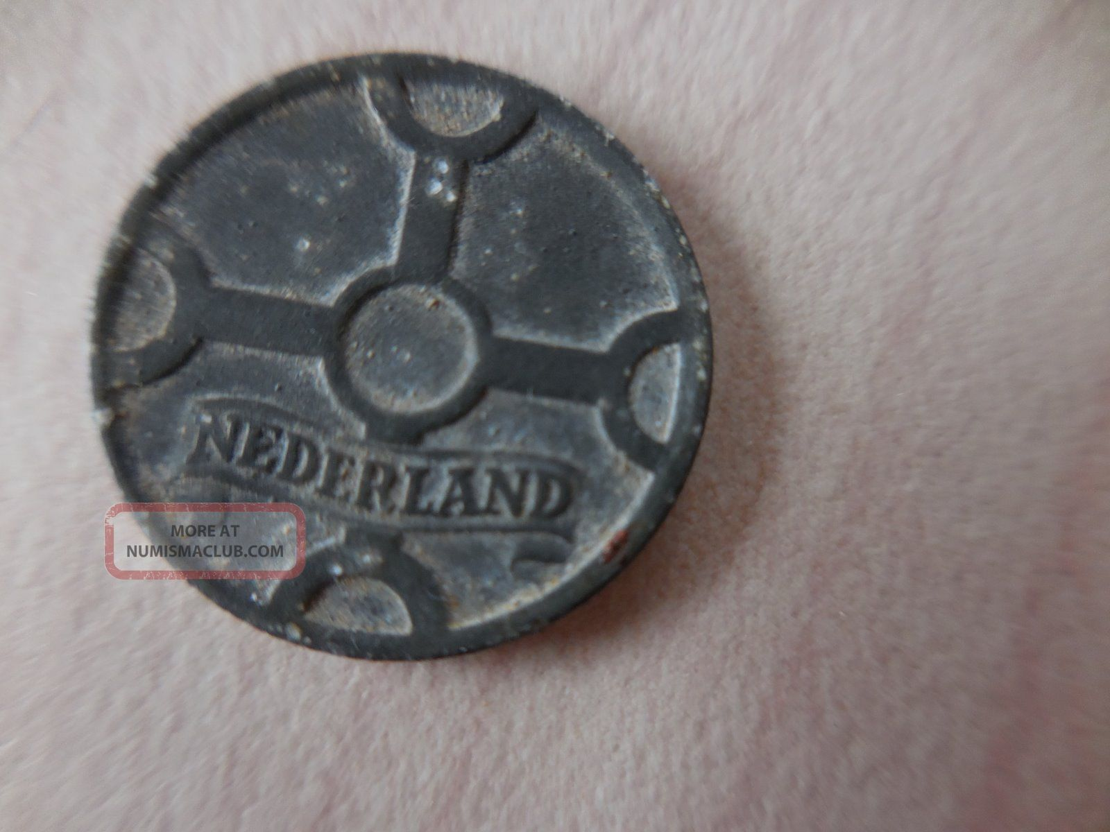 Wwii 1943 Nederland 1 Cent Coin Europe photo