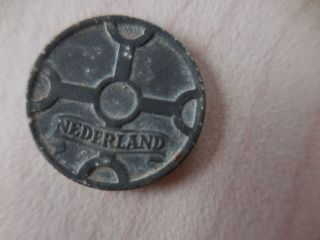 Wwii 1943 Nederland 1 Cent Coin photo