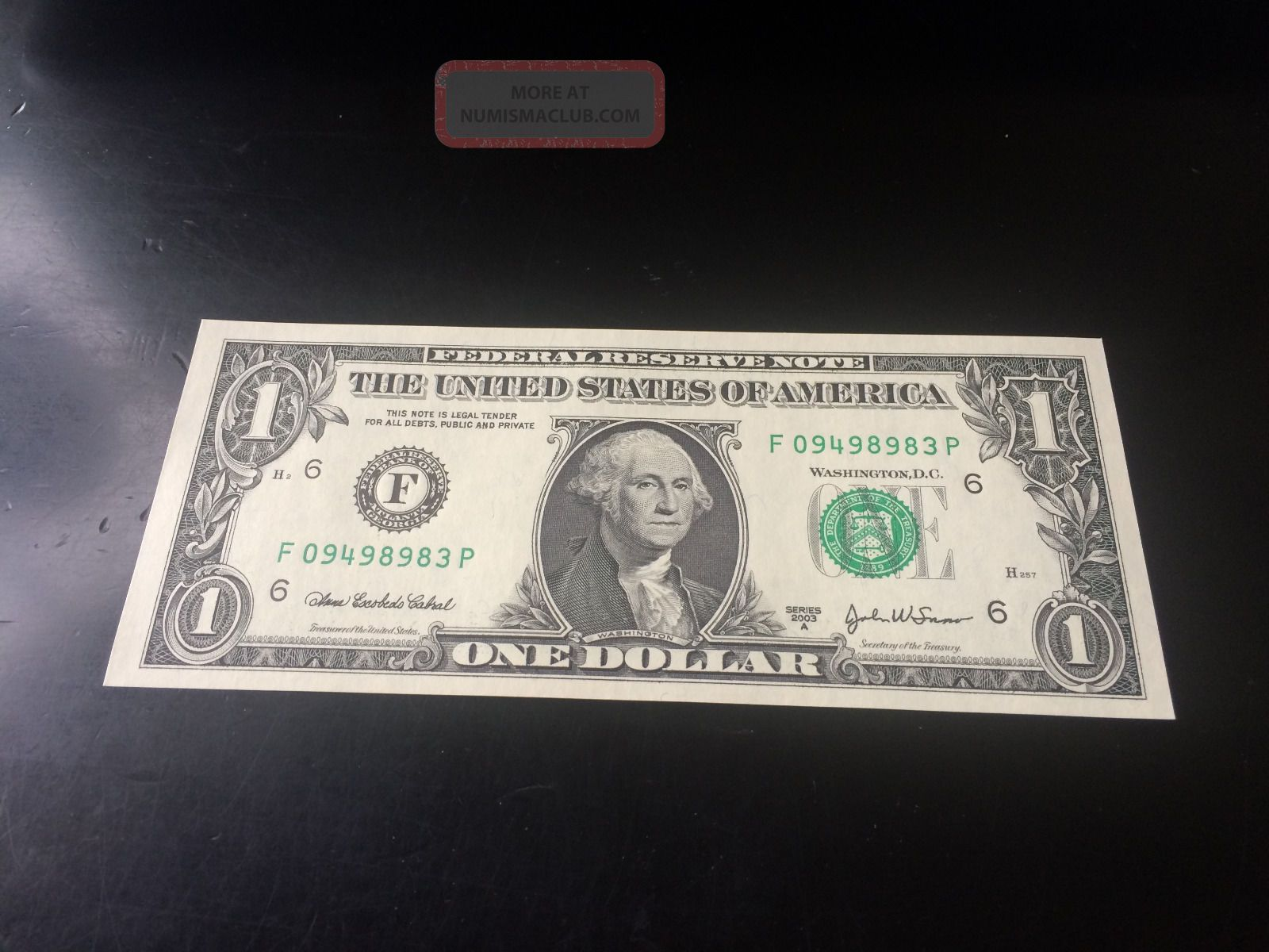 2003a 1 Federal Reserve Note Small Size Notes photo