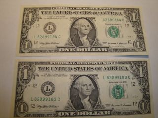 (1) $1.  00 Series 1999 Federal Reserve Note Bu Uncirculated. photo