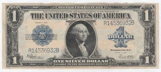 Circulated 1923 Silver Certificate - - Ungraded $1 Large Size Note 256,  Fr.  237 photo