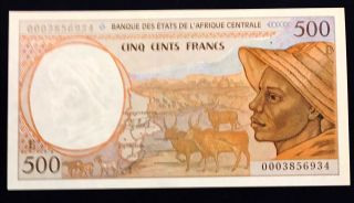 Cameroon Cameroun Central African States 500 Francs 2000 Shepherd P201eg - Unc photo