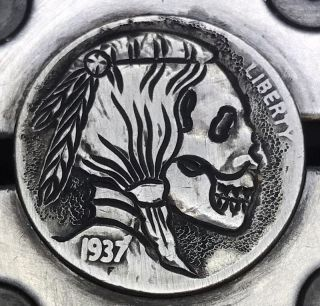 1937 Classic Coin Art Hobo Nickel Death 7 photo