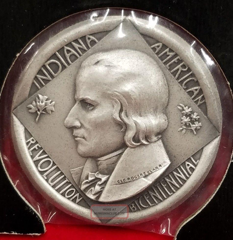 1976 Indiana American Revolution Bicentennial Medal 999