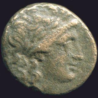 Greek Coin Antiochos Apollo Tripod Anchor Syria 4,  00 G / 16,  40 Mm Grk1436.  10 photo