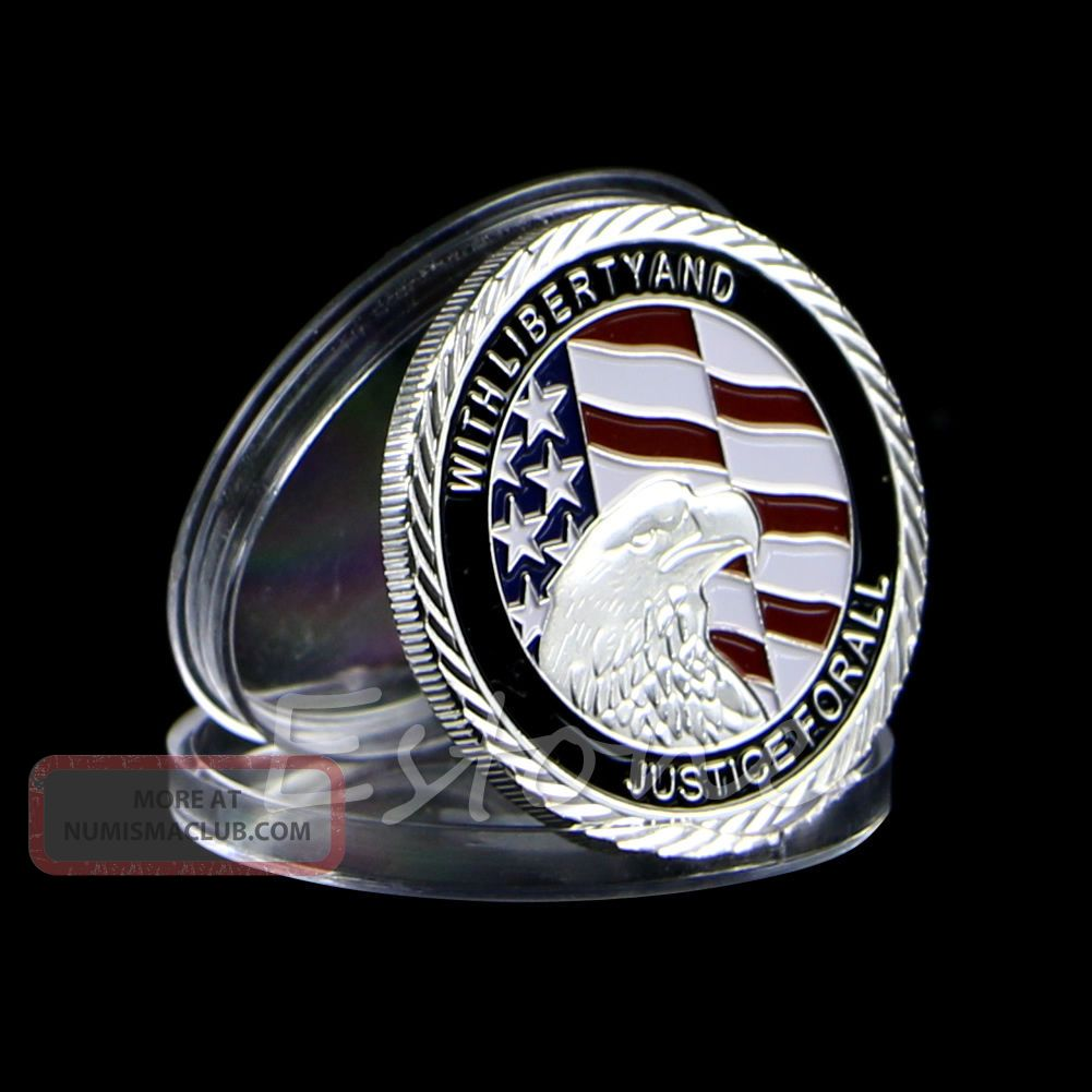 2011 911 10th Anniversary Silver Plated Commemorative Coin Art Collectible Gift Other Coins of the World photo