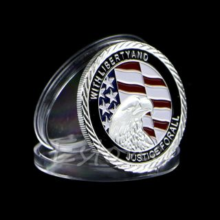 2011 911 10th Anniversary Silver Plated Commemorative Coin Art Collectible Gift photo