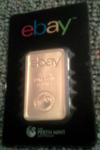 Ebay & Perth 1oz Gold Bar.  9999 Fine In Assay photo