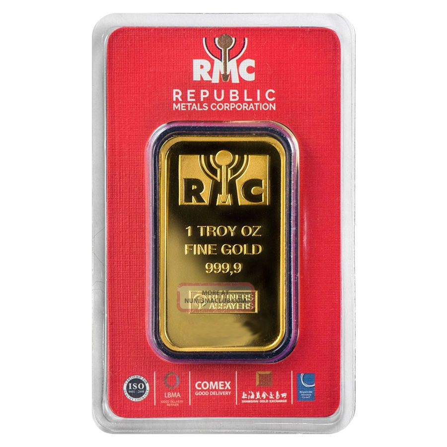 1 Oz Republic Metals (rmc) Gold Bar.  9999 Fine (in Assay) Bars & Rounds photo