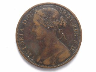 Great Britain Penny,  1862 Error Last Colon Upper Dot Listed In Freeman photo