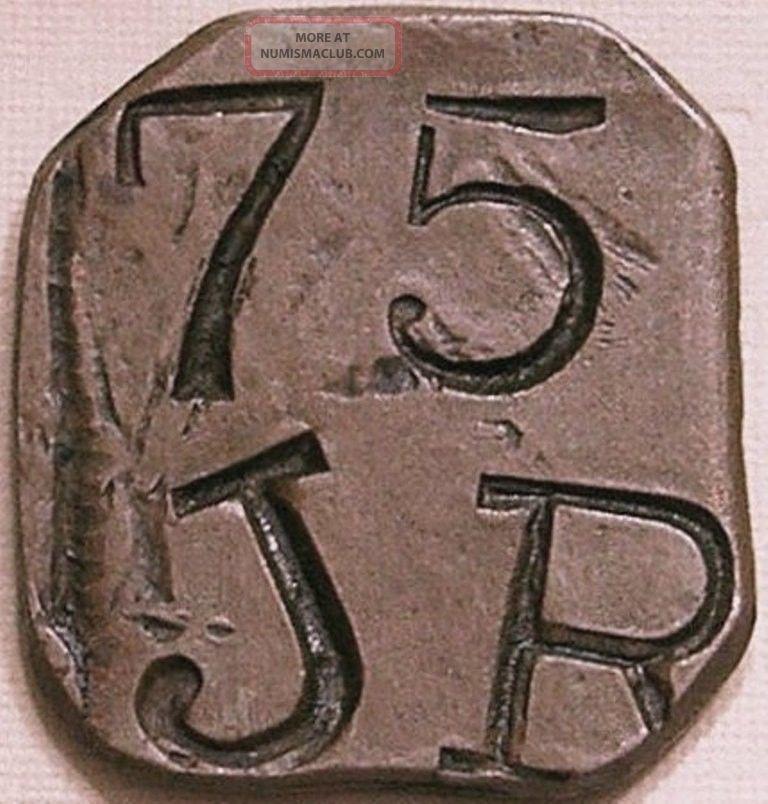 Dominican Republic Nd (c - 1885) J R 75 (centavos) Bodega Ocoa Token Exonumia photo