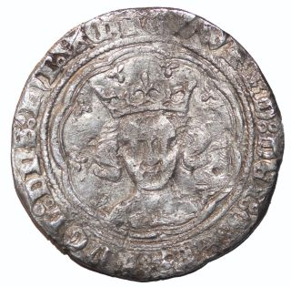 Medieval Edward Iii 1327 - 1377 Ad London England Ar Silver Groat photo