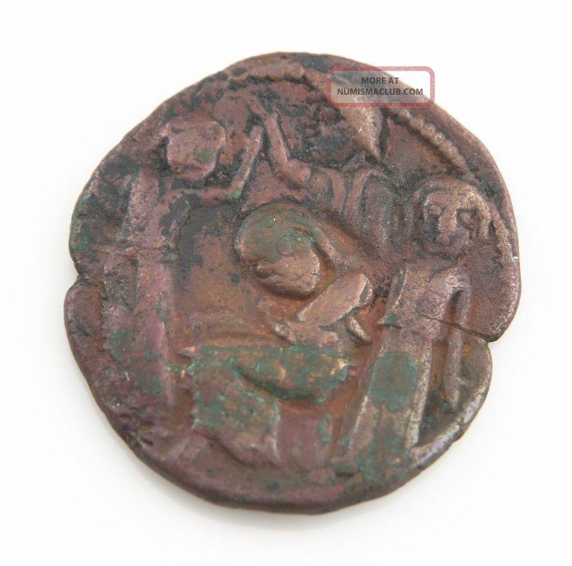 Artuqids Of Mardin Hosam Al - Din Yuluq Arslan A.  H.  580 - 597 (1184 - 1201 Ad) Dirhem Coins: Medieval photo