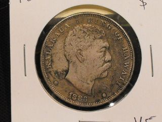 1883 Hawaii Dollar In Vf.  - Us. photo