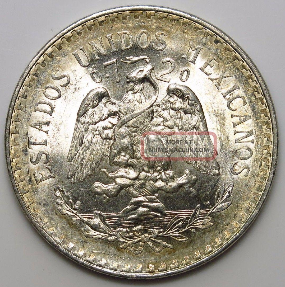 1944 Mexico Peso Silver Coin Mexico photo