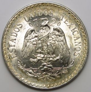 1944 Mexico Peso Silver Coin photo