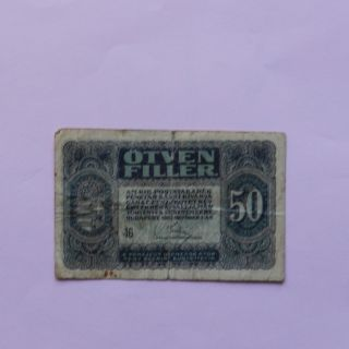 1920 Hungary.  50 Filler,  Pick 44 (folds,  Stains.  Small Tear) photo