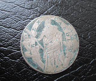 Antique 17th Century Circa 1620 Silver Coin Rex Carol V God Send Long To Raine photo