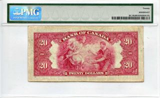Canada: 1935 Bank Of Canada $20 Dollars Pmg Vf20 (bc - 9b,  Osborne - Towers) photo