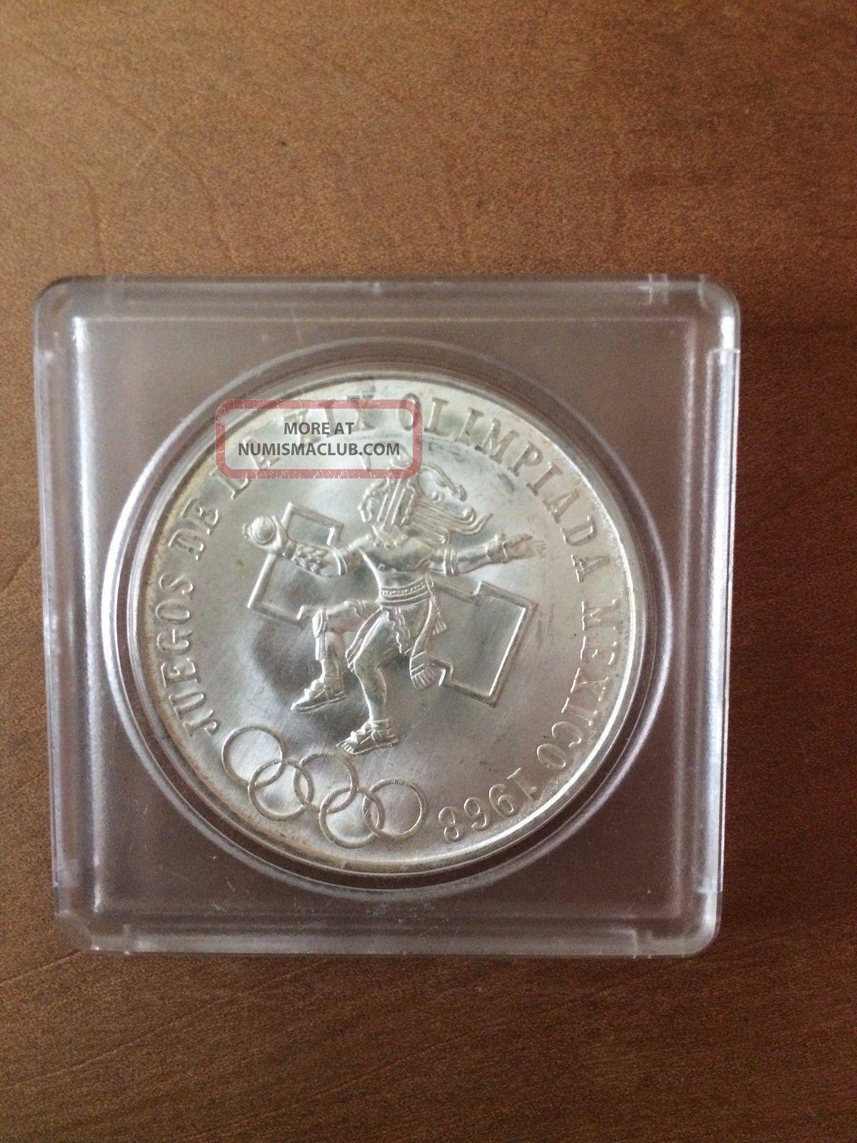 1968 Silver 25 Pesos Olympiada Mexico (1905-Now) photo