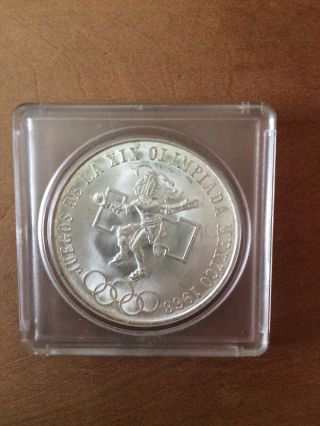 1968 Silver 25 Pesos Olympiada photo