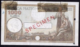 Romania - 1000 Lei 1934,  P 37s,  Specimen photo