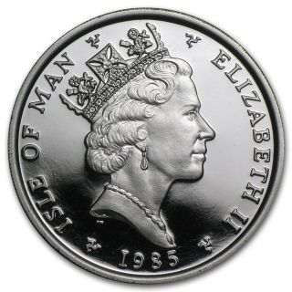 1985 1oz Platinum Isle Of Man Noble Coin Mintage 3000 Only Grab Now photo