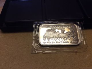 Stagecoach Silver Breakaway 4x 1/4 Oz,  1 Oz.  999 Fine Silver Art Bar photo