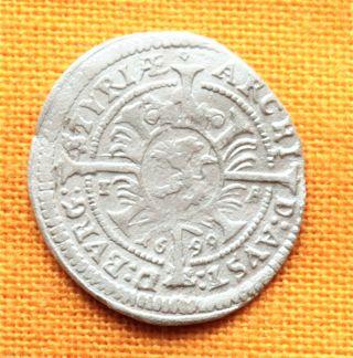 Medieval Austrian Coin - Leopoldus Styria 1 Kreuzer - 1699. photo