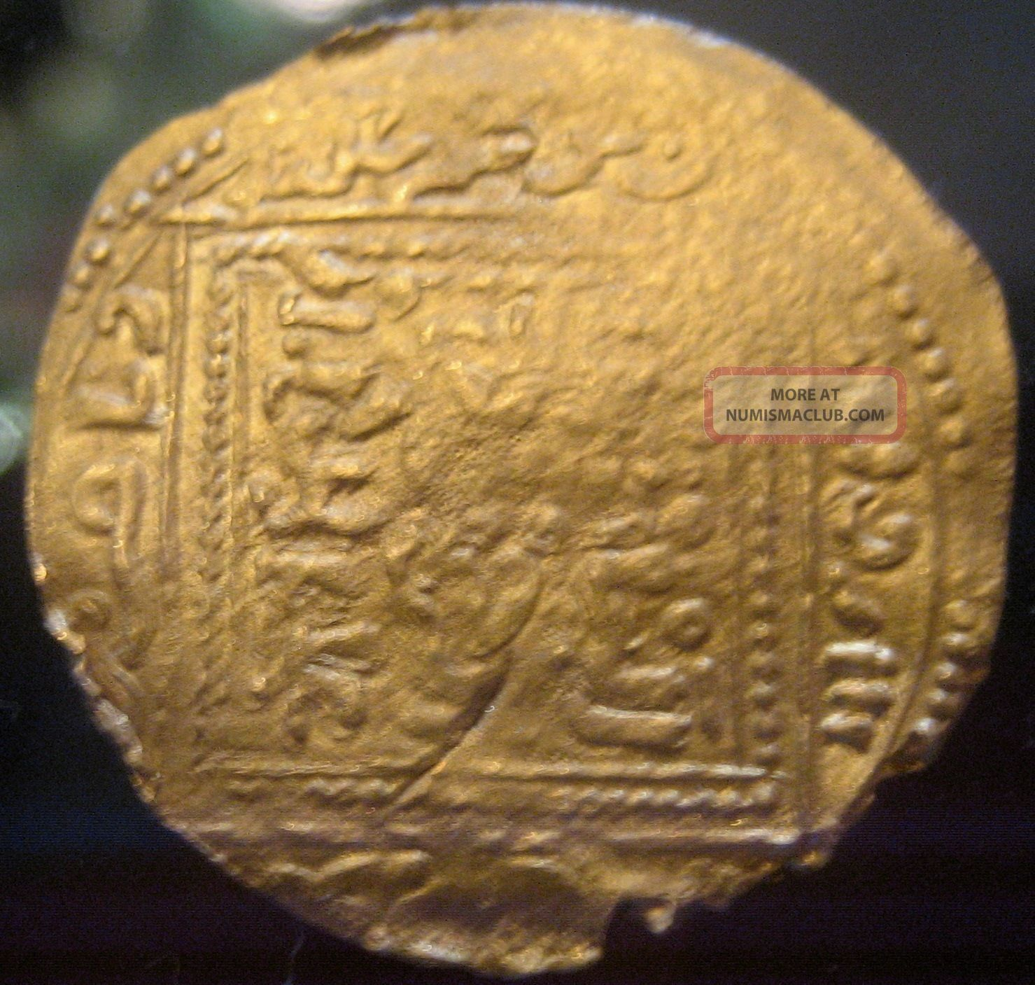 Very Rare Gold Arabian Empire North Africa Merinid Abu Zayd 1374 - 1382 Marrakesh Coins: Medieval photo