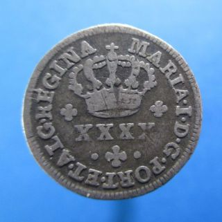 Portugal 50 Reis 1/2 TostÃo 1786 - 1799 Silver Maria I Km 283 R488 photo
