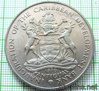 Antigua 1970 4 Dollars,  Caribbean Development Bank,  F.  A.  O.  Serie Bananas,  Unc photo