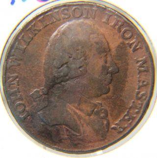 Conder Token 49 - 1790 Warwickshire 1/2 Penny - D & H 426 - John Wilkerson photo