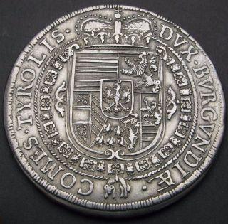 Austria Thaler 1654 - Silver - Ferdinand Charles - Vf/xf - 1438 photo