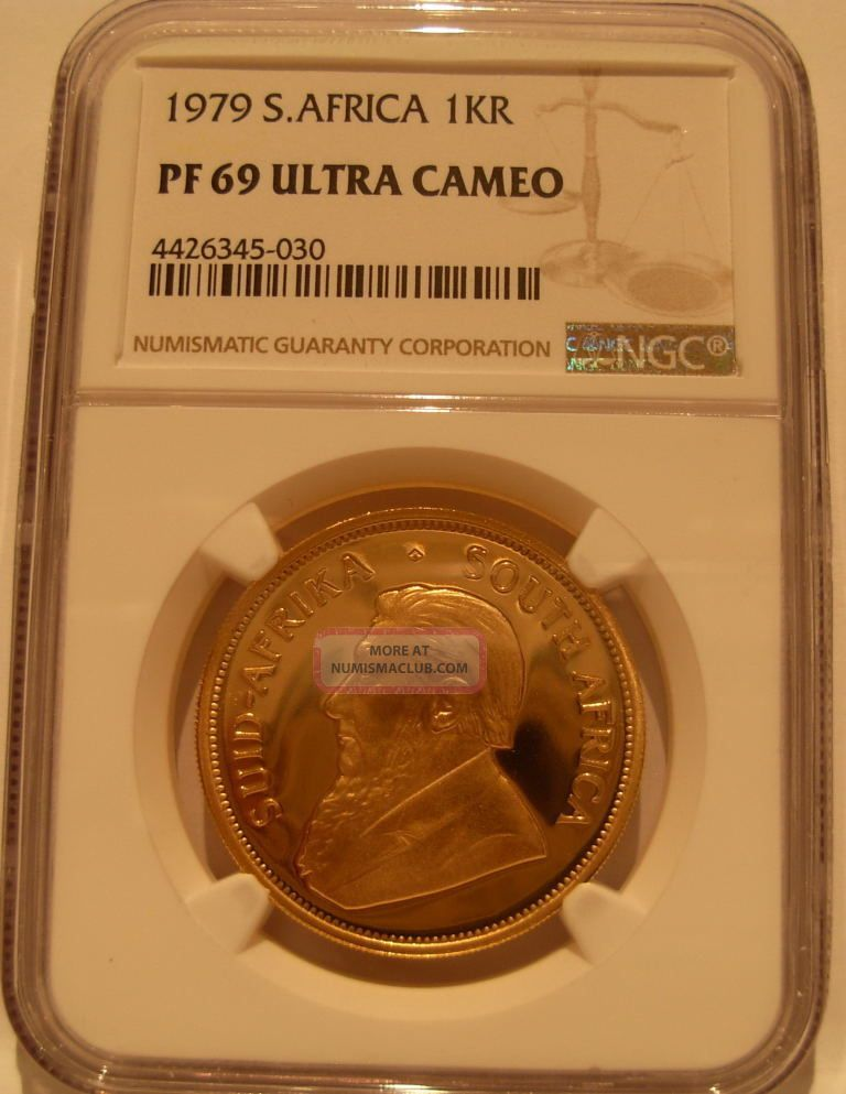 South Africa 1979 Gold 1 Oz Krugerrand Ngc Pf - 69uc Coins: World photo