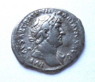 Denar Of Hadrianus Rv.  Moneta Standing Left photo