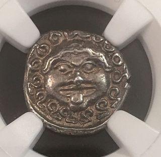 Thrace Gorgon Apollonia Pontica Very Ancient Greek Silver Drachm Ngc Au 3.  3g photo