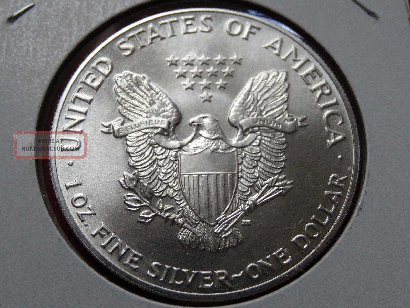 1986 American Unc 99 9 Silver Eagle Dollar 44