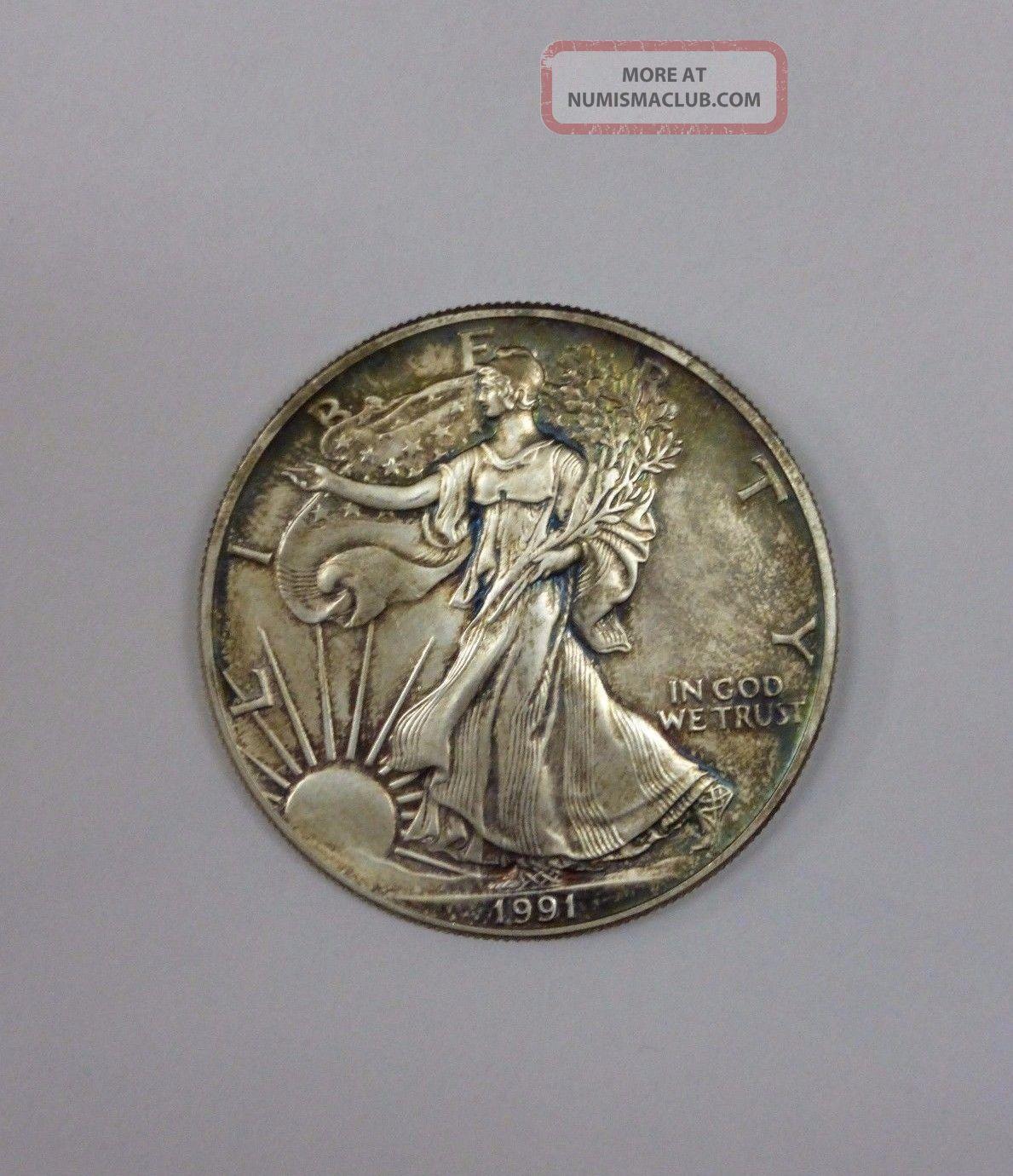 1991 American Eagle 1oz Silver Dollar Uncirculated Silver photo